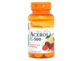 Acerola C-500 rágótabletta 40 db édesítővel (Vitaking)