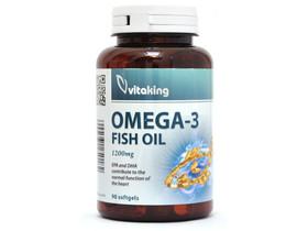 Vitaking Omega-3 gélkapszula 1200mg 90db EPA216/DHA144