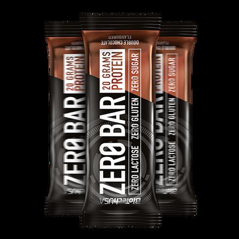 Zero Bar dupla csoki ízesítésű 50 g (BioTech USA)