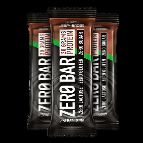 Zero Bar csokoládé-mogyoró ízesítésű 50 g (BioTech USA)