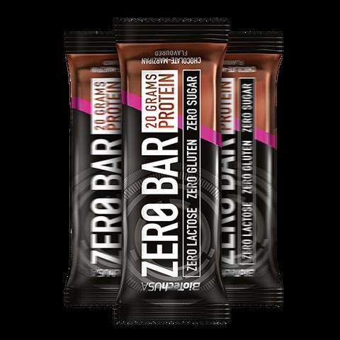 Zero Bar csokoládé-marcipán ízesítésű 50 g (BioTech USA)