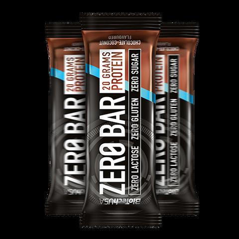 Zero Bar csokoládé-kókusz ízesítésű 50 g (BioTech USA)