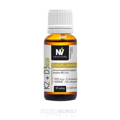 K-vitamin-kompex 1000mcg +D3 4000 NE Forte 60 adag
