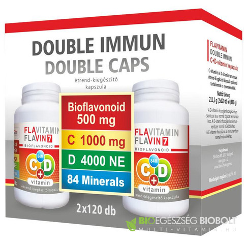 Flavitamin Double Immun C+D vitamin 2 x120db