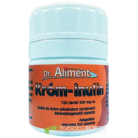 Króm-Inulin tabletta 120db 500mg (Dr. Aliment)