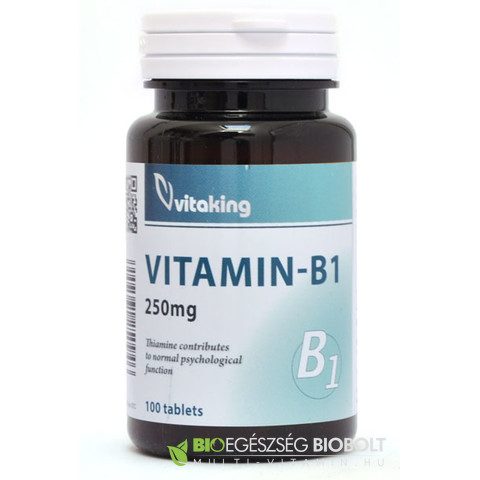 B1-Vitamin 250 mg 100 db (Vitaking)