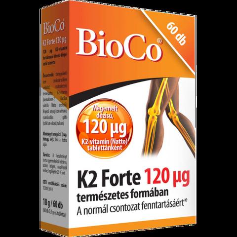 BioCo K2 Forte 120mcg 60 db tabletta
