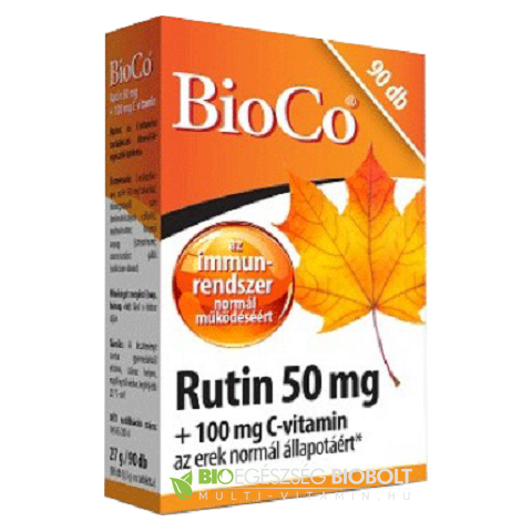 BioCo Rutin 50 mg + C-vitamin 100 mg tabletta 90 db