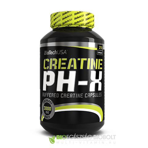 BioTech USA Creatine pH-X 210 db kapszula