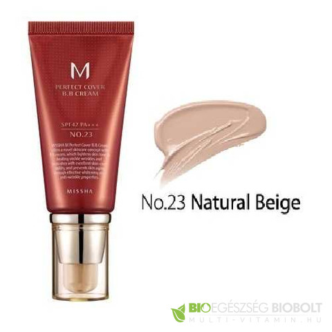 BB Missha M Perfect Cover BB Cream No.23 50ml Natúr Bézs