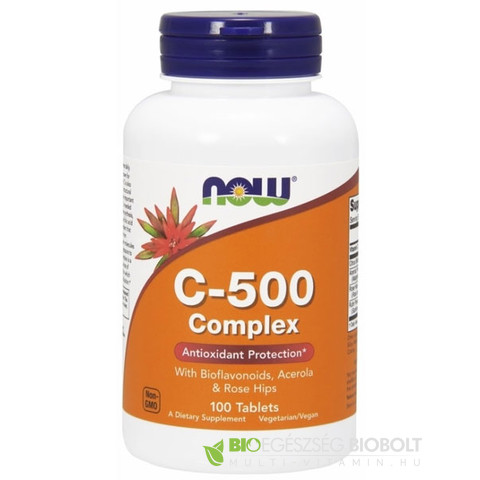 C-500 Complex 100 db tabletta (NOW)