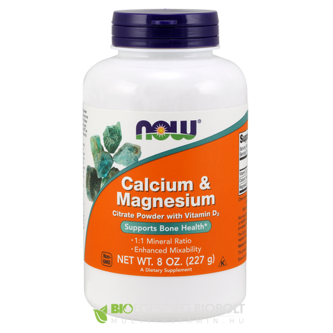 Calcium Magnesium 227g por 8 oz (NOW)