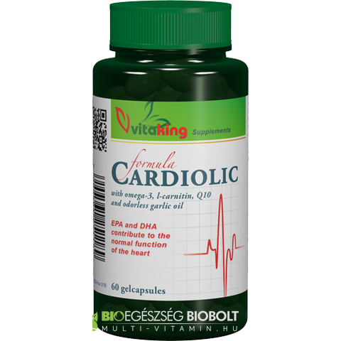Cardiolic Formula Q10+Omega+L-car+Garlic 60 db (Vitaking)