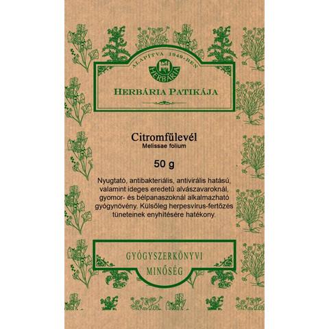 Citromfűlevél tea 50 g (Herbária)
