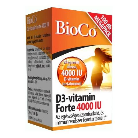 BioCo D3-vitamin Forte 4000 IU Megapack 100db