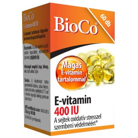 E-vitamin 400 IU kapszula 60 db (BioCo)