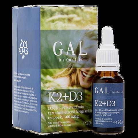 GAL K2-D3 20ml K-komplex 500mcg + D3 4000NE