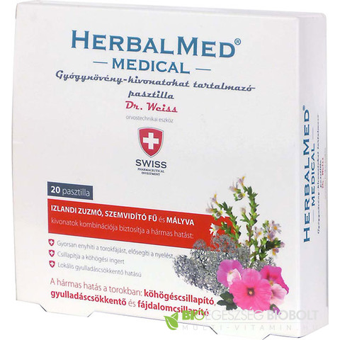 Herbal Med medical pasztilla 20db