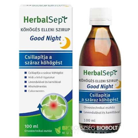 Herbalsept köhögés elleni szirup Good night 100ml