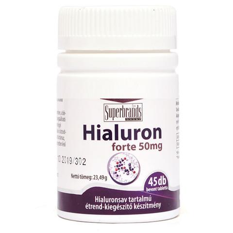 Hialuron forte 50 mg 45 db tabletta (Jutavit hialuronsav)