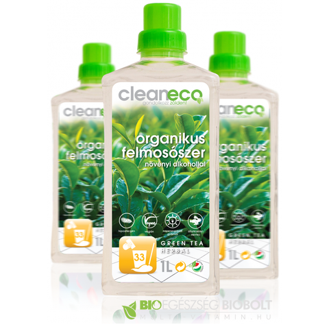 Cleaneco Organikus felmosószer green tea herbal illat 1L