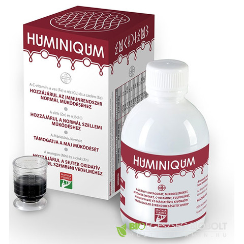 Huminiqum huminsav alapú szirup 250ml