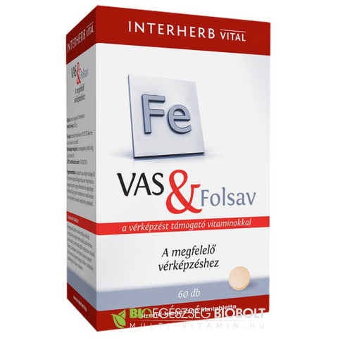 Interherb VITAL Vas + Folsav tabletta 60 db