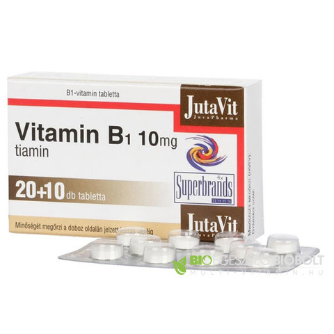 JutaVit B1-vitamin 10mg tabletta 30 db