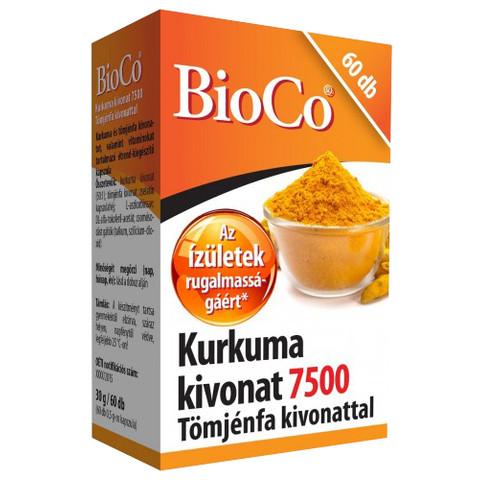 Kurkuma 7500mg kivonat kapszula 60db (BioCo)