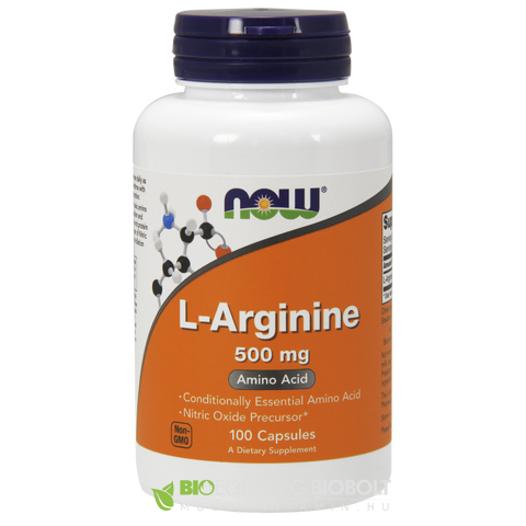 L-Arginine 500mg 100 db kapszula (NOW)