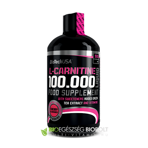 L-Carnitin 100.000 Liquid 500 ml Cseresznye (BioTech USA)
