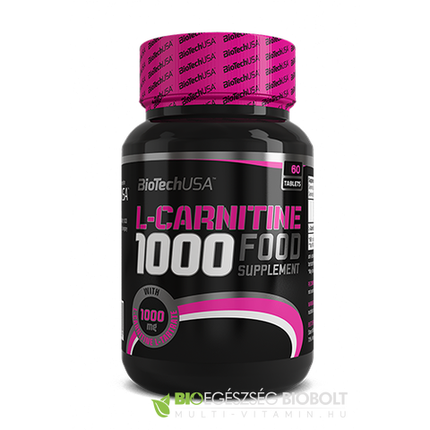 L-Carnitin 1000 mg tabletta 60db (BioTech USA)