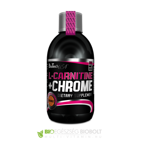 L-Carnitin + Chrome 500 ml Narancs (BioTech USA)