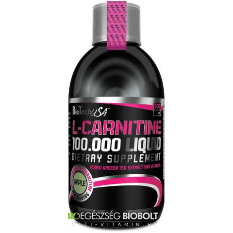 L-Carnitin 100.000 Liquid 500 ml Alma (BioTech USA)