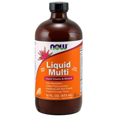 Liquid Multi vitamin narancsos íz 473 ml (NOW)