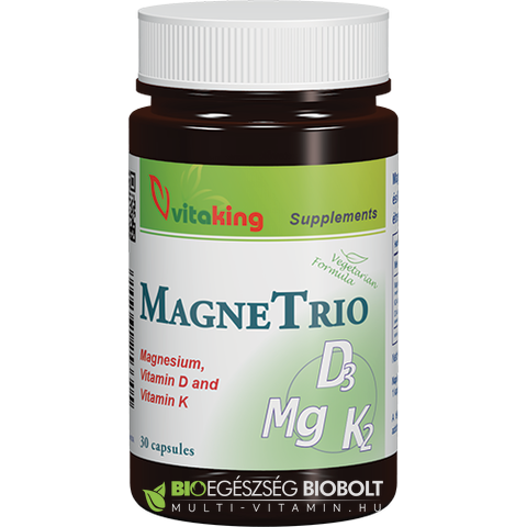 Magne Trio Mg + K2 + D3 vitamin 30db (Vitaking)