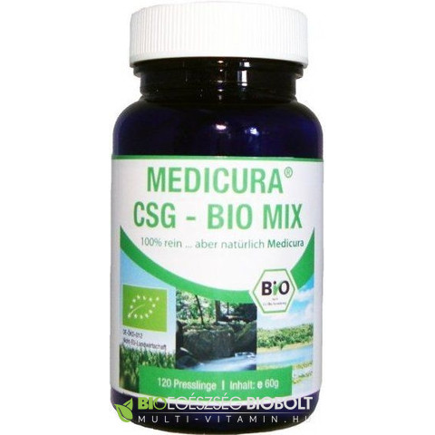 Medicura CSG Mix Chlorella+Spirulina+Zöldárpa tabletta 120 db
