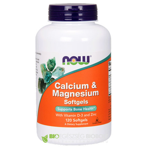 Now Calcium and Magnesium lágyzselatin kapszula 120db