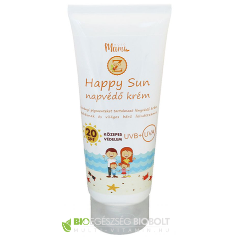 Eco-Z Happy Sun napvédő krém SPF20 100ml