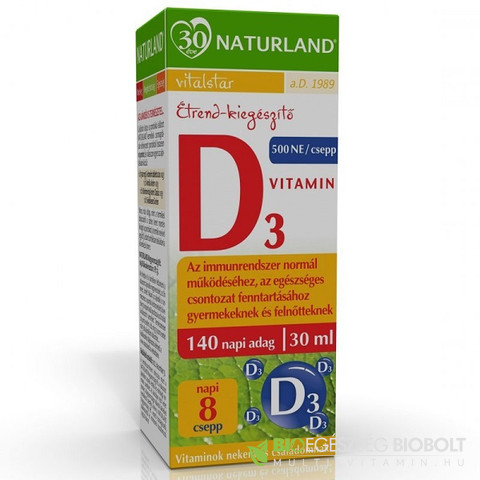 NL D3 Vitamin csepp 30ml