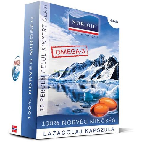 NOR-OIL Premium Omega-3 Lazacolaj kapszula 60 db