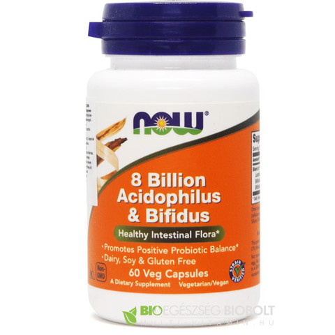 NOW Acidoph Bifidus 8 billion 60db