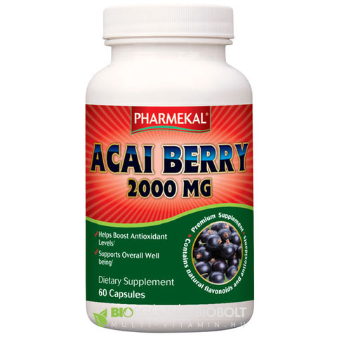 NV Acai berry koffeinmentes kapszula 60db 2000mg (Ph)