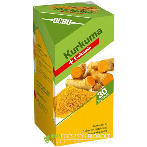 OCSO Kurkuma + E-vitamin kapszula 30 db