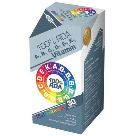 OCSO 100% RDAA-, B-, C-, D-, E-, K-vitamin multivitamin 30 db