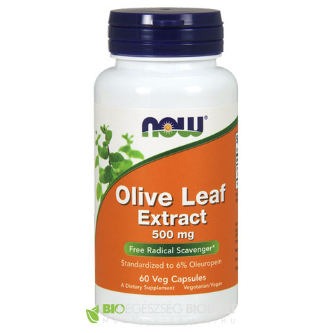 Now Olive Leaf Extract 60db 500mg