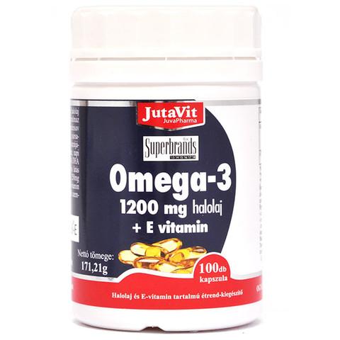 Jutavit Omega-3 halolaj 1200 mg + E-vitamin kapszula 100 db