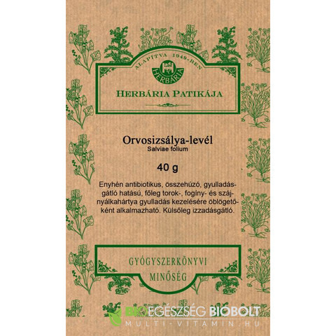 Orvosizsálya-levél tea 40g