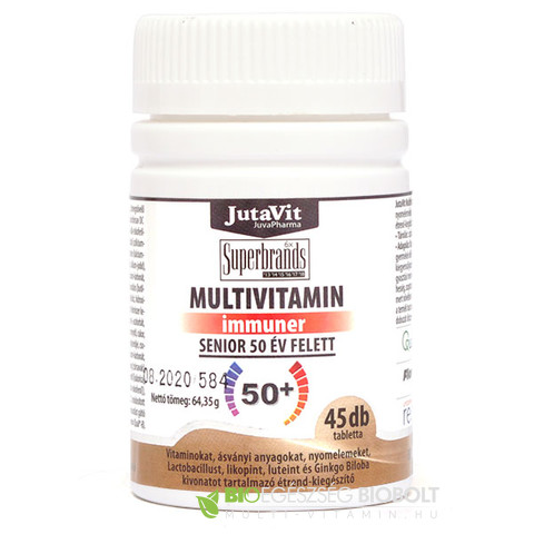 JutaVit multivitamin Senior tabletta 45db 50+