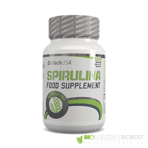 Spirulina tabletta 100 db BioTech USA
